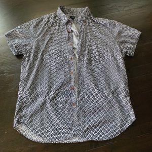 J. Crew Men's Short Sleeve Printed Shirt